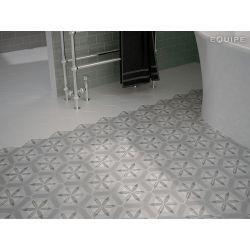 Carrelage Hexagonal en grès cérame émaillé.   Imitation de carreaux ciment, décors cercles et...