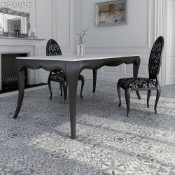 Carrelage Hexagonal en grès cérame émaillé.   Imitation de carreaux ciment, décors patchwork 3...