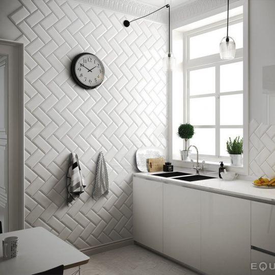 carreau metro 10x20 white blanc brillant. Black Bedroom Furniture Sets. Home Design Ideas