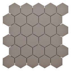 GRÈS CÉRAMEPLEINE MASSE     Carreaux5,5x6,3 cmtaupe XENO en grès-cérame pleine masse full...