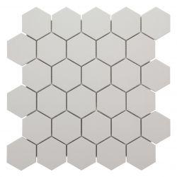 Carreaux 5,5x6,3 cm blanc FLUORO en grès-cérame pleine masse full body.     Carrelage...