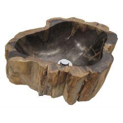 Lavabo en bois pétrifié. Vasque en bois fossilisé.   Chaque pièce est unique   FOSIL