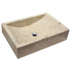 Lavabo en marbre. Vasque en pierre.   Chaque pièce est unique   NERJA BEIGE