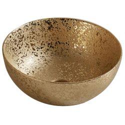 Lavabo en céramique. Vasque en céramique.   Coloris or   Chaque pièce est unique   PLUIE ORO