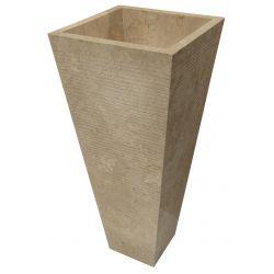 Lavabosur pied en pierre   Chaque pièce est unique   DURCALBEIGE