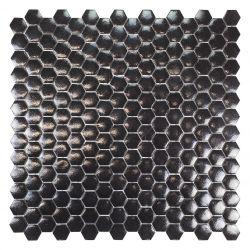 Mini tomette en émaux de verrenoir brillant.   Très tendance cet article s'utilise au sol comme...