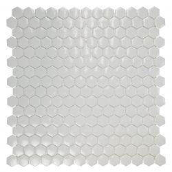 Mini tomette en émaux de verre blancbrillant.   Très tendance cet article s'utilise au sol...
