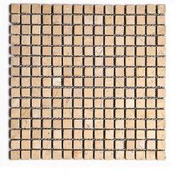Produits naturels, ces  mosaïques en marbres carrés jaunes , sont montées sur une trame souple...
