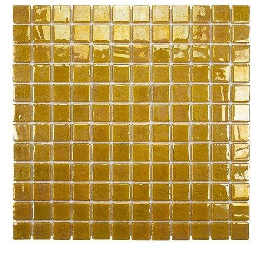 Emaux de verre émaillés dorés