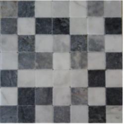 Marbre vieilli, mélange de 3 coloris blanc, gris, noir   50% white   25% black   25% grey