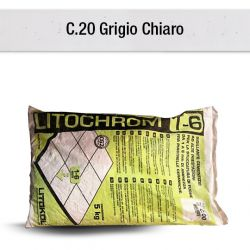 GRIGIOCHIARO - GRIS CLAIR   Mortier à base de ciment aux prestations élevées pour le...