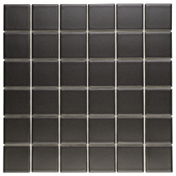 Grès cérame émaillé noir mat fabriqué en Italie.   Carrelage aux normes européennes.   Chaque...
