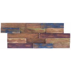 Parement en bois, idéal pour habiller les murs dans les pièces à vivre.   Plaquettes de bois de...