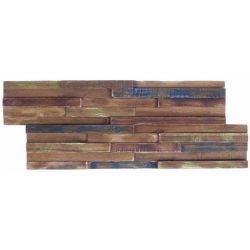 Parement en bois, idéal pour habiller les murs dans les pièces à vivre.   Plaquettes de bois...
