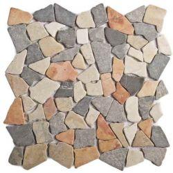 Produits naturels, ces  mosaïques en cassons de marbres palladiana mélange5 couleurs , sont...