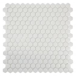 Mini tomette en émaux de verre sablé blanc mat.   Très tendance cet article s'utilise au sol...