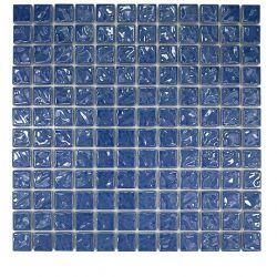 Carreaux en grès-cérame émaillé brillant.   Très beau carrelage bleu océan à la fois décoratif...