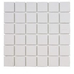 Carreaux 5x5 cm blanc FLUORO en grès-cérame pleine masse full body.     Carrelage antidérapant...