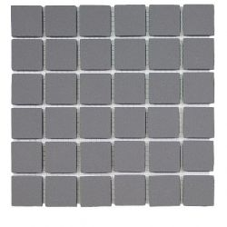 Carreaux 5x5 cm gris foncé NICKEL en grès-cérame pleine masse full body.     Carrelage...