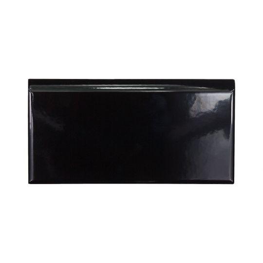 Plinthe Ceramique Noire Brillante 10x20
